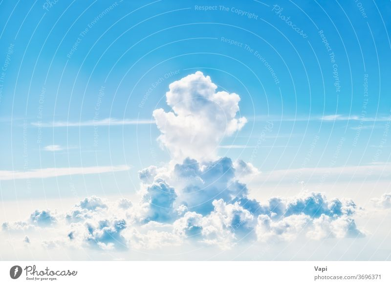 Blue sky with white clouds nature blue background cloudscape aerial light color beautiful day high cumulus weather sunlight summer beauty air environment bright