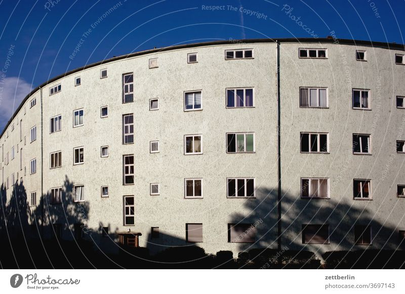 Siemens City Berlin Architecture on the outside Bauhaus bauhaus settlement city Germany Facade Window Capital city House (Residential Structure) Sky Sky blue