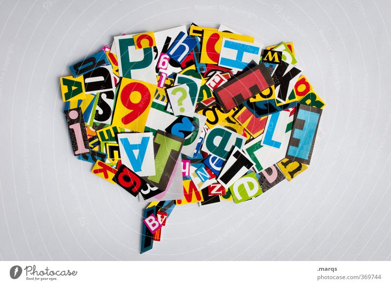 linguistics Education To talk Speech bubble Letters (alphabet) Communicate Means of communication Creativity Latin alphabet Characters Modern Rhetoric