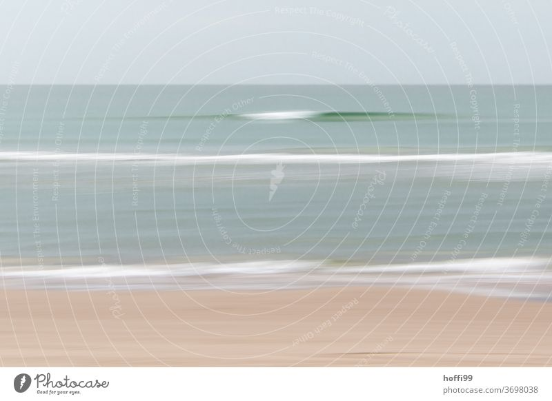 calm soft waves - the movement of the camera creates calm Swell Beach soft light fine fine art Abstract Movement Wavy line Motion blur Meditation Waves swell