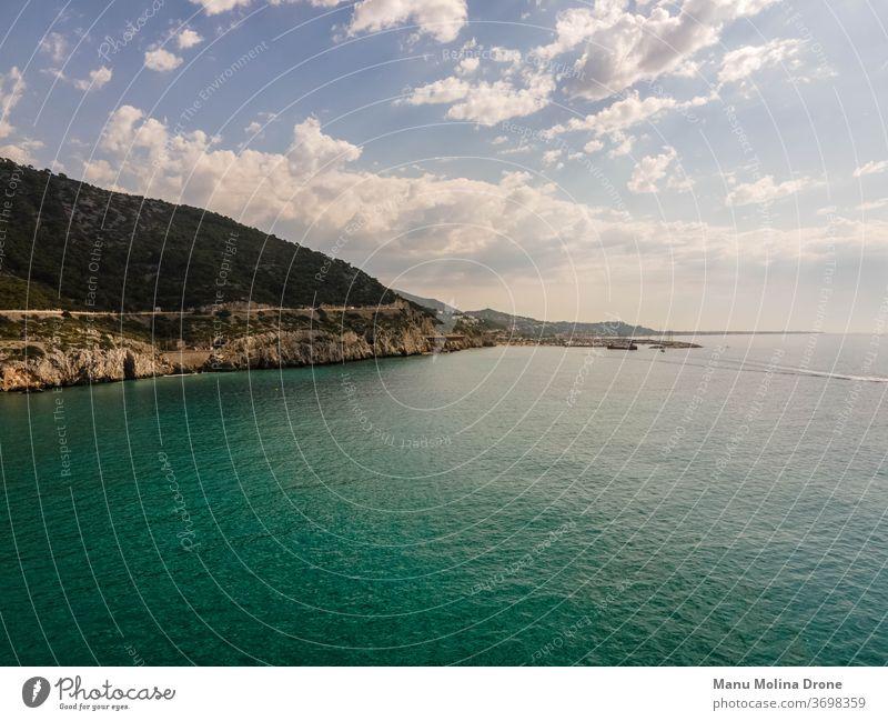 Foto de la costa de Blanes en Barcelona blanes girona barcelona spain españa mar mediterraneo fondo pantalla agua Vertical azul Montaña naturaleza nubes cielo