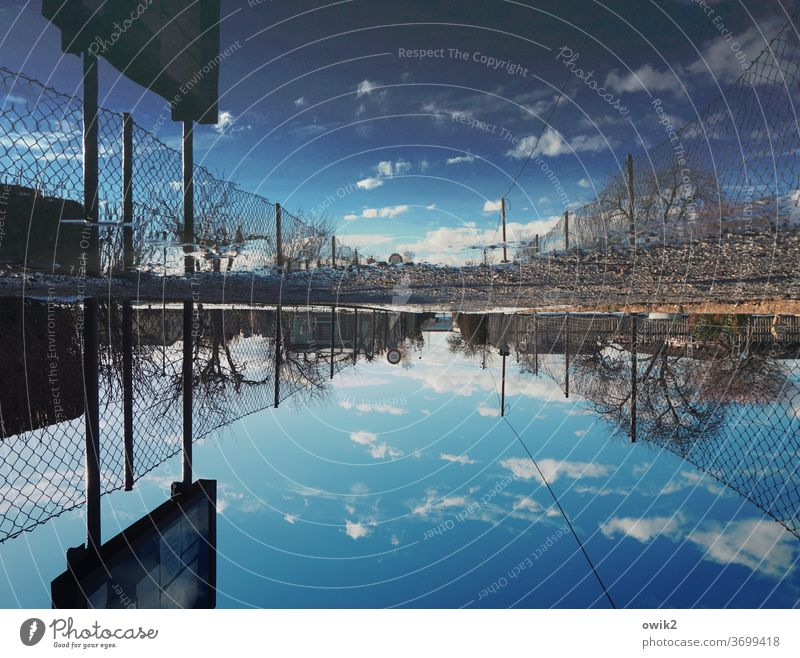 distortion of the facts Sky Reflection Surface of water Mirror image Water Rotated 180° Exterior shot Landscape Environment Deserted Nature Day Calm