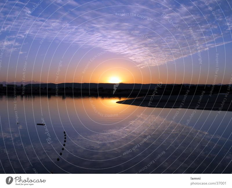 Water Sun Clouds Calm Landscape Moody River Desert Reflection Red Sea
