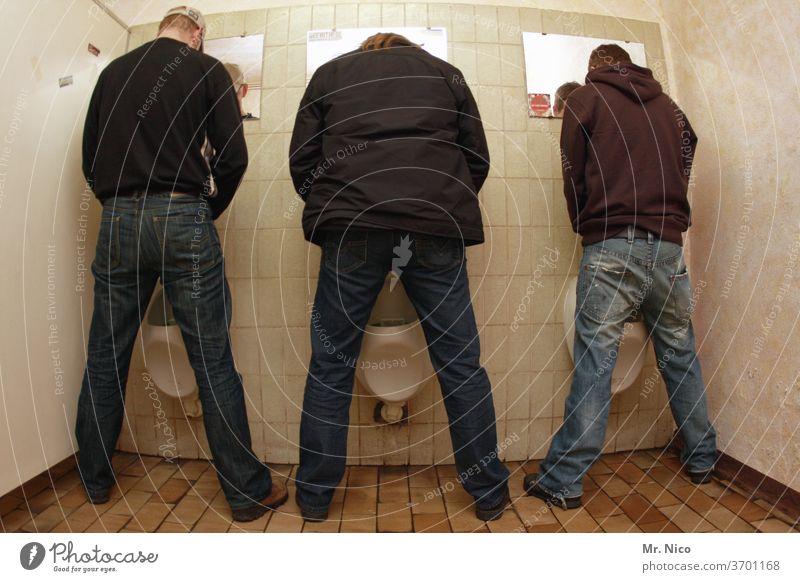 Men I Neighbourhoods LAVATORY Toilet john Clean Urinal Public restroom Gentlemen's toilet Tile Urinate Sanitary facilities Side by side Stand Relief men's loo