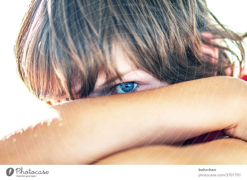 I'm looking at you Earnest pretty Eyes Boy (child) Family Colour photo Infancy Face Day Brash Light Child Sunlight portrait Close-up Cool (slang) Contrast Son