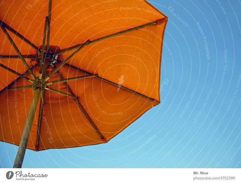 summertime Summer Sunshade Summer vacation Summery Blue sky Weather protection Beautiful weather Orange Summer's day Ease Sunlight Tourism Vacation & Travel