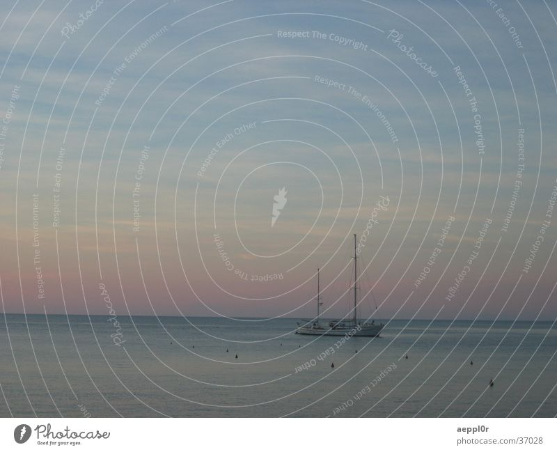 giglio sunset Sunset Sailboat Isola del Giglio Italy Summer Europe Mediterranean sea