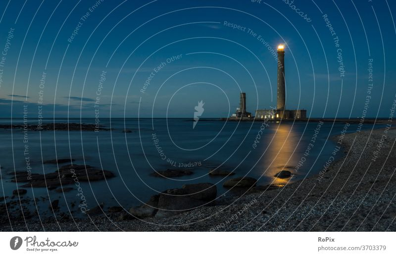 Lighthouse of Gatteville Harbour harbour pier boats Fisherman fishing Beach beach Coast Ocean sea Tide tides Summer coast mare Construction Fastening Water