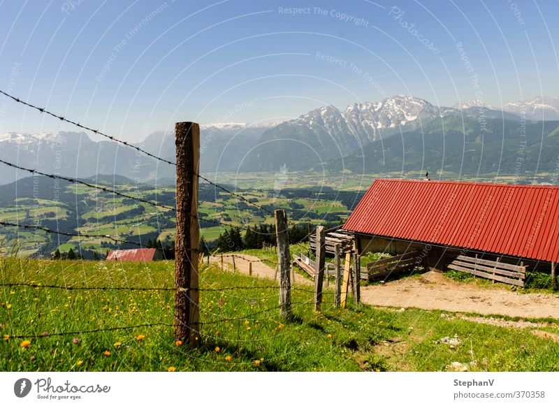 Nature Vacation & Travel Summer Relaxation Landscape Calm Far-off places Mountain Grass Lanes & trails Horizon Tourism Hiking Beautiful weather Trip Roof