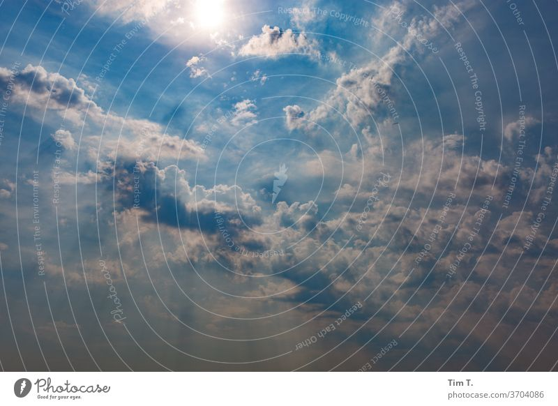 the sky over Brandenburg Weather Sky Clouds Blue Summer Beautiful weather Colour photo Deserted Nature Environment White Climate Sunlight Light Air