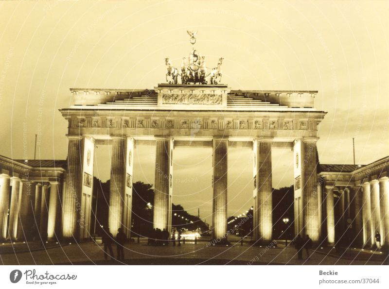 Brandenburg Gate Pariser Platz Straße des 17. Juni Historic Berlin Black & white photo