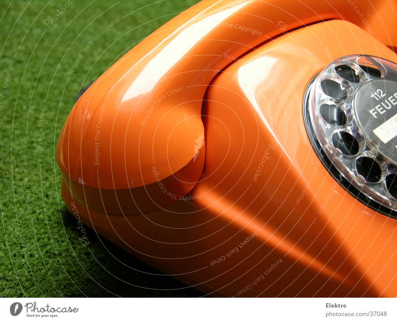 Green Orange Communicate Circle Technology Telecommunications Blaze Fire Telephone Contact Media Receiver Electrical equipment Compromise Rotary dial