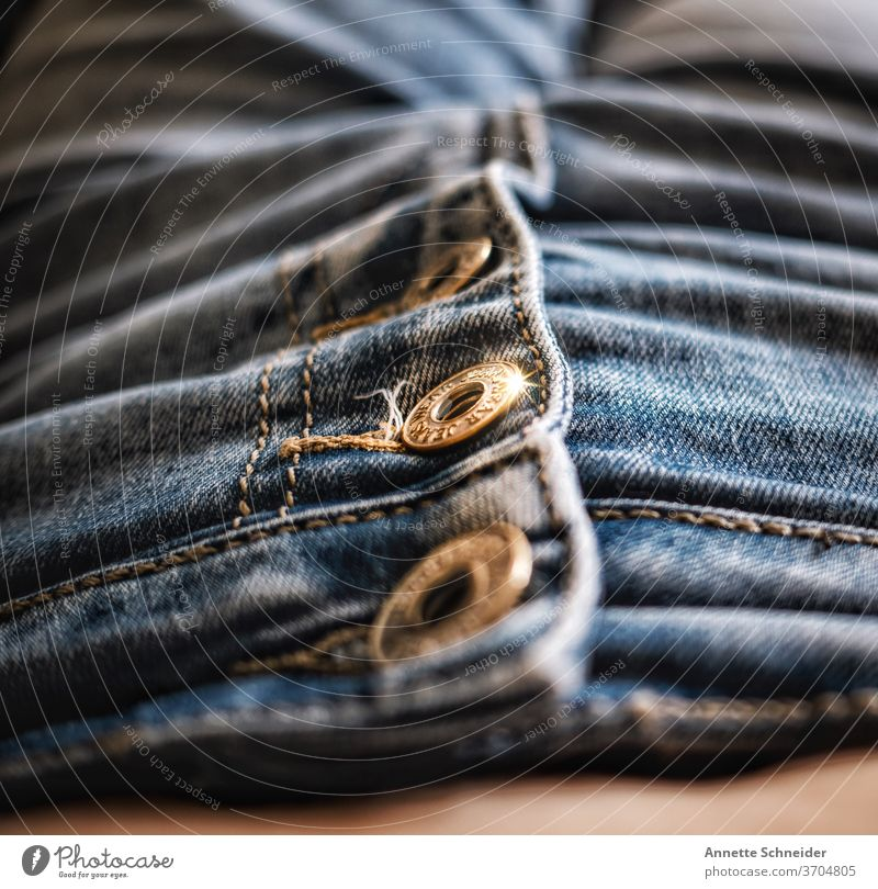 Jean buttons jeans Jeans Pants Fashion Close-up Cotton plant textile Easygoing Cloth Clothing Style Buttons