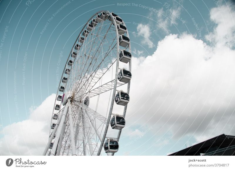 The Wheel of Brisbane Ferris wheel Theme-park rides Structures and shapes Design Unwavering Circular Landmark Sky Original Style Authentic Modern great