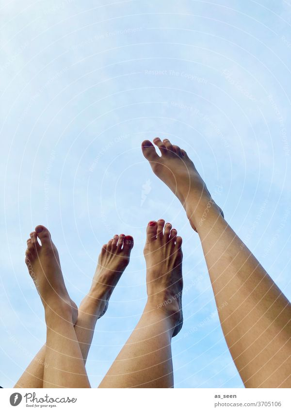Feet against the sky foot Sky fun vacation free time Summer Relaxation Vacation & Travel Exterior shot Beach feet Toes Barefoot Legs Stretching relaxation