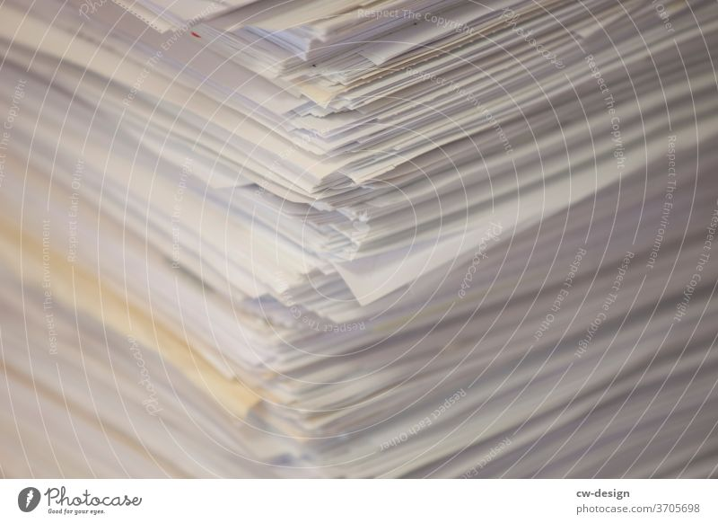 piles of paper Paper Wastepaper Stack of paper Scrap of paper paper cut Colour photo Deserted Copy Space top Copy Space bottom Close-up Copy Space left