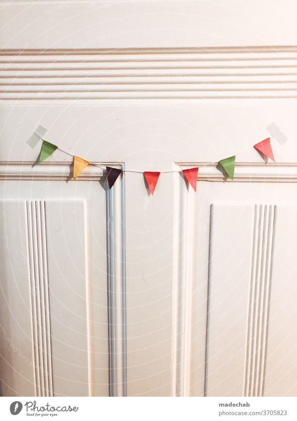 Cheers Hustle and bustle Cheerfulness pennant chain decoration Feasts & Celebrations Decoration Multicoloured Birthday Party Event Entertainment Happiness