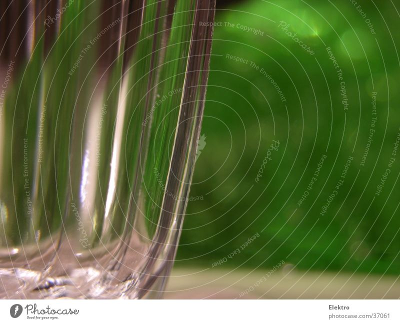 glass-green Glass Tumbler Wine glass Table Crockery Green Sparkling wine Christmas decoration Refraction Empty Macro (Extreme close-up) Close-up