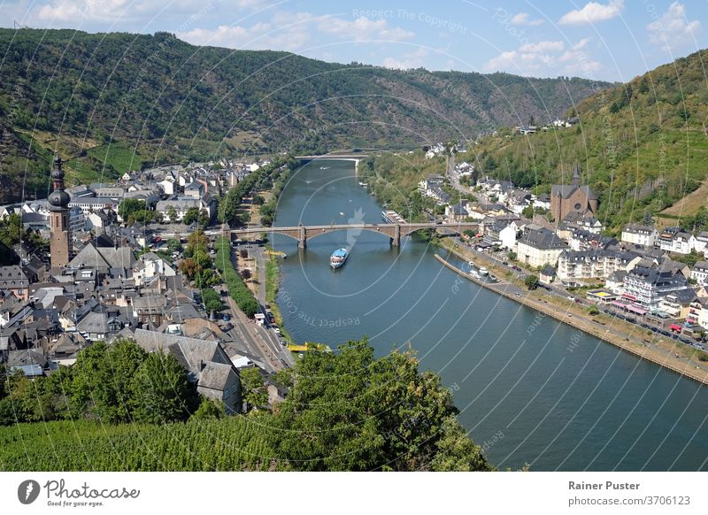View over the city of Cochem in the Moselle region of Germany cityscape cochem day germany landscape mosel mosel germany mosel river moselle moselle river