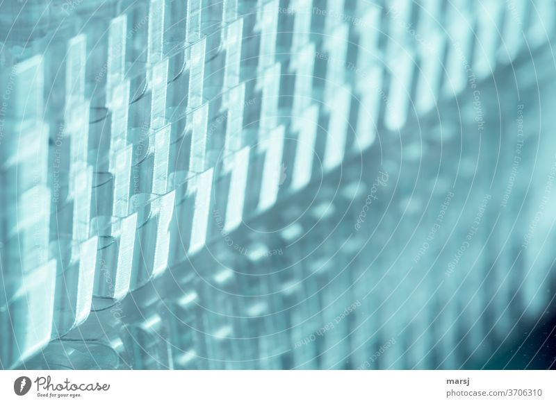 Plastic stacked transparent reutilisation Mysterious Recycling Art Close-up plastic Trash Uniqueness Design in layers Exceptional Background picture differently