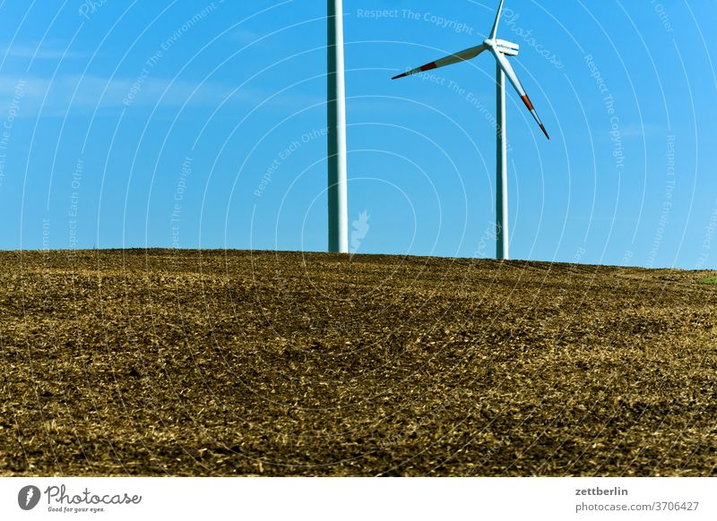 wind power acre Energy renewable wenergy Field Sky power station Agriculture Deserted Rotor Summer stro Power Generation Copy Space wide Windmill Pinwheel