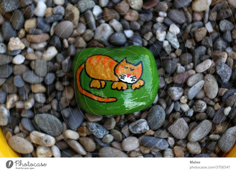 The painted hiking stone is left on the walking path for passersby to see adventure background border cartoon character cloud color direction fantastic forest