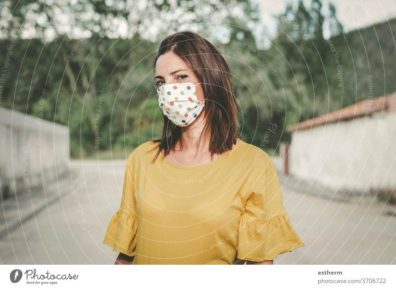 Young woman wearing medical mask coronavirus young woman epidemic pandemic quarantine fun funny covid-19 symptom medicine health beautiful elegant fashion