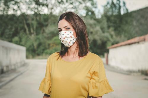 Young woman wearing medical mask coronavirus young woman epidemic pandemic quarantine fun funny covid-19 symptom medicine health beautiful elegant fashion