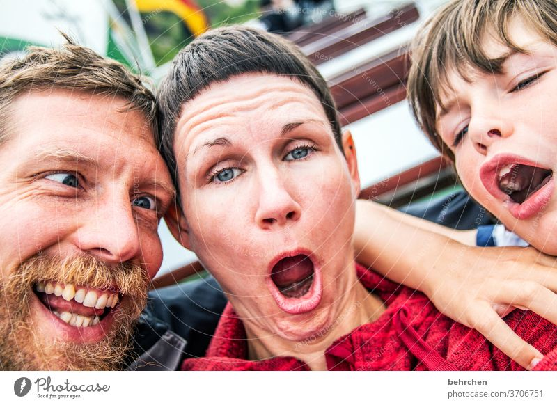 ...is humor if you laugh anyway... fortunate muck about Infancy affectionately smile Family Married couple Love Family & Relations Mother Father Son Child