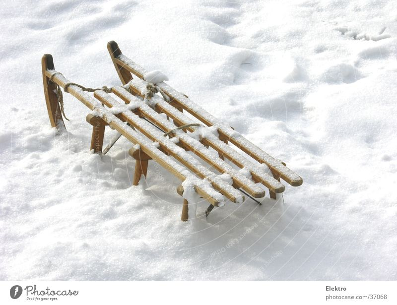 Vacation & Travel Winter Snow Snowfall Ice Parking Untouched Sleigh Snow layer Unused Sledge