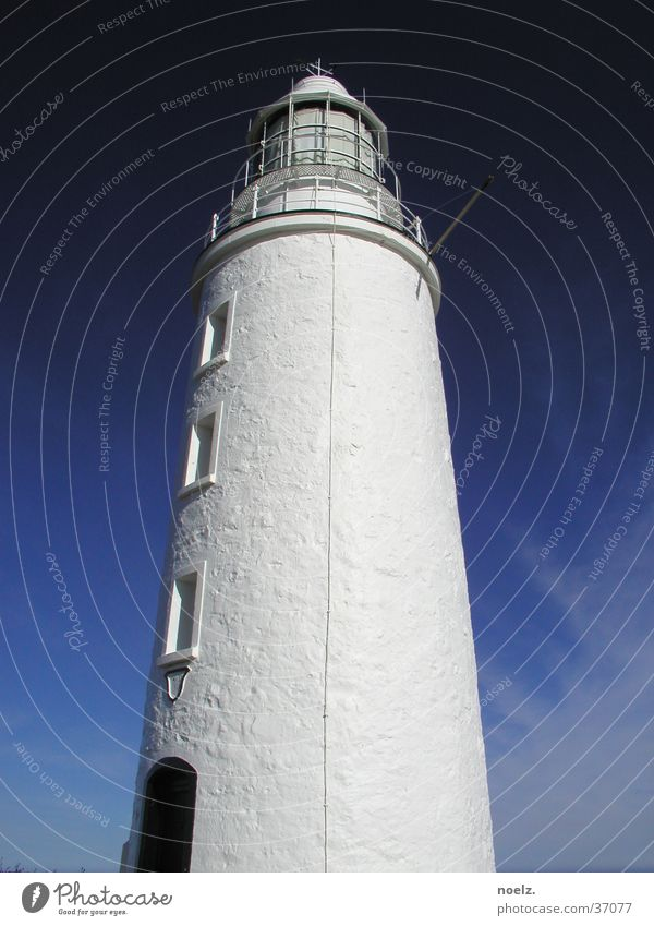 Sky White Clouds Architecture Tower Lighthouse Australia Blue sky Tasmania