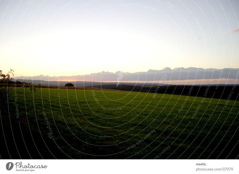Sky Sun Green Clouds Meadow Mountain Horizon