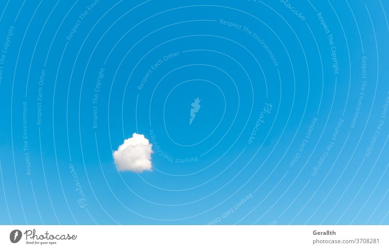one white cloud against a blue sky abstract alone atmosphere backdrop background bright clean clear clear day clear sky climate cloudy color environment heaven