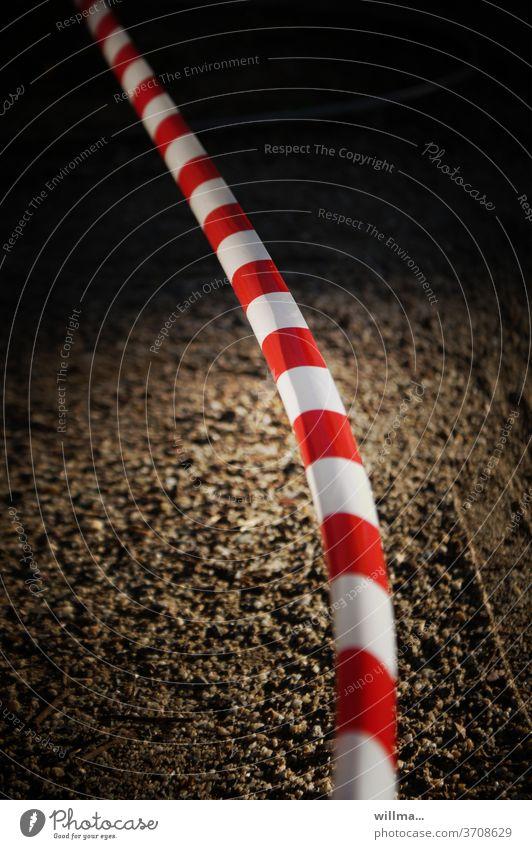 barrier tape flutterband Reddish white cordon Bans Protection Safety Barrier corona Limitation gap
