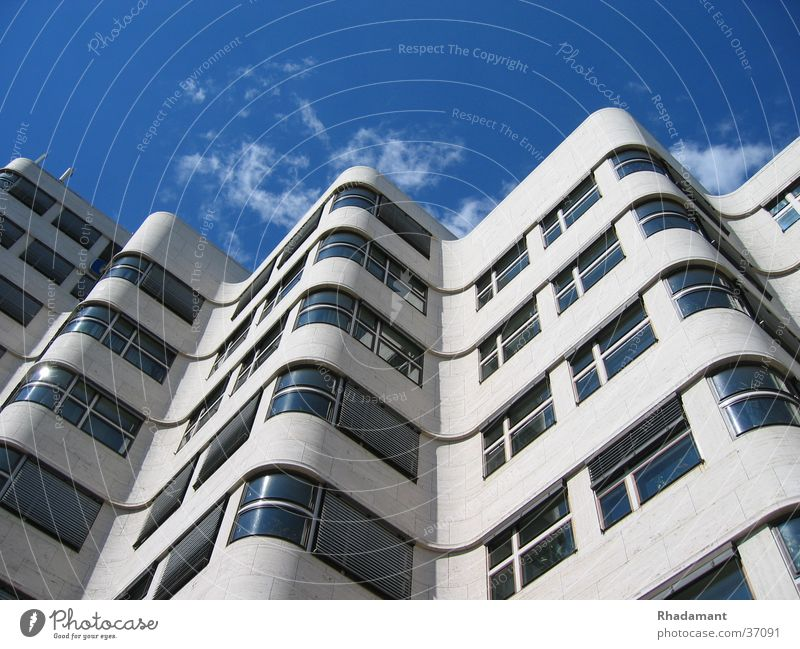 Gasag House (Residential Structure) Window Clouds Waves Architecture Berlin