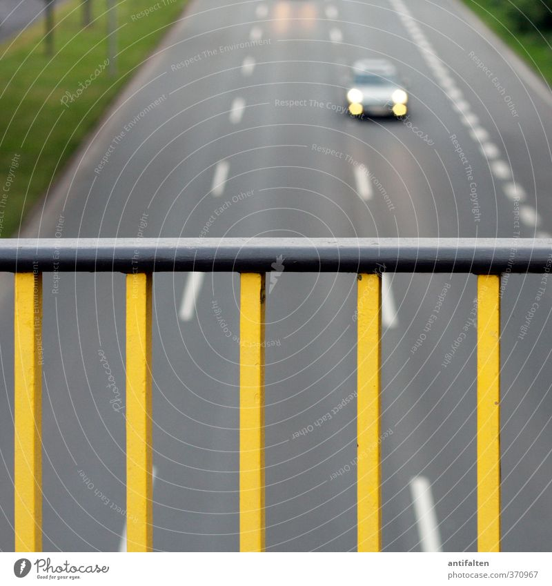 City Yellow Street Grass Gray Line Metal Car Transport Speed Concrete Bridge Stripe Driving Traffic infrastructure Highway