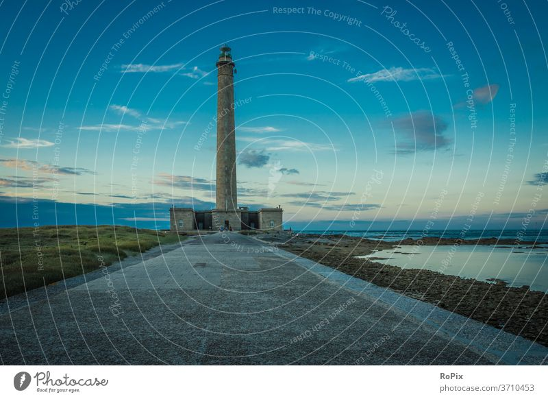 Dawn at Gatteville lighthouse. Normandie canal coast steep coast Ocean rock Stone Sea State Beach beach Coast sea France North Sea ocean Sandy beach vacation