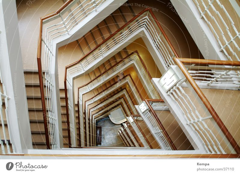 Gotenhof inside Staircase (Hallway) Go up Beige Skylight Building Public agencies and adminstrations Monument Stripe Corner Architecture Descent wooden rail
