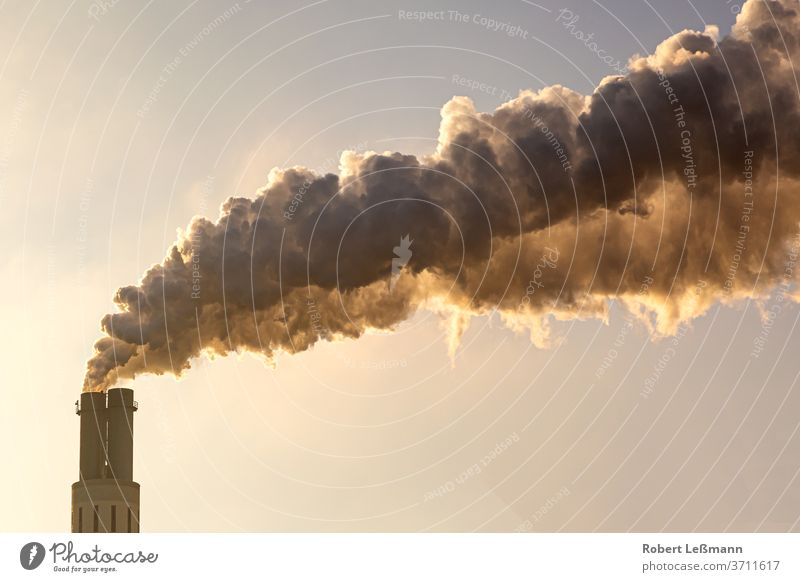 much smoke escapes from the chimney and pollutes the environment Chimney Environmental pollution Smoke Air pollution Climate change Industry soiling