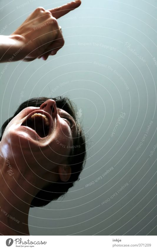 Human being Woman Hand Adults Face Life To talk Emotions Moody Lifestyle Mouth Communicate Fingers Anger Argument Scream