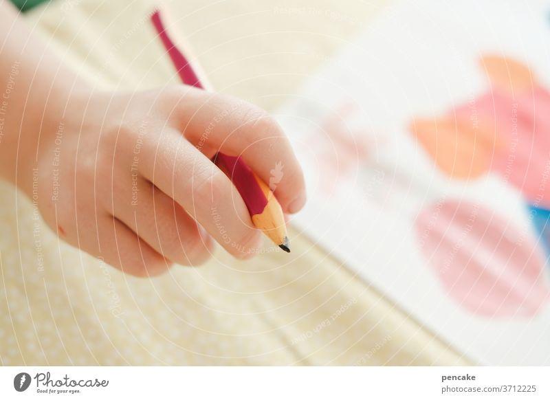 vorfreude | auf den ersten schultag Kind Stift malen zeichnen schreiben lernen Schule Bleistift
