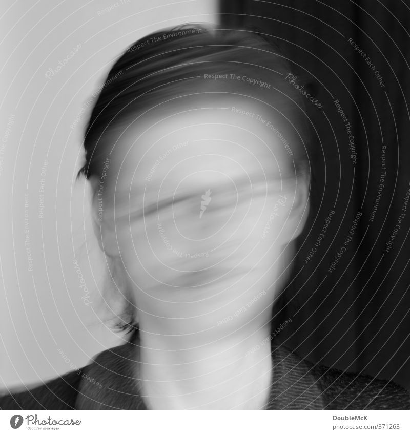 Human being Woman White Black Adults Feminine Movement Gray Head Crazy Chaos Bizarre Dynamics Irritation Surrealism Impaired consciousness