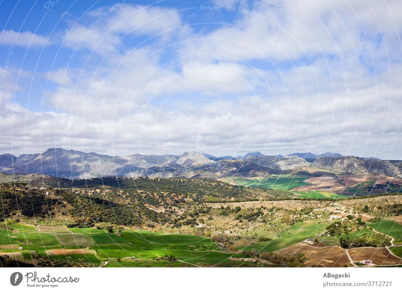 Andalusia Landscape In Spain Andalucia Nature Travel Europe Field Mountains Meadow Rural Countryside