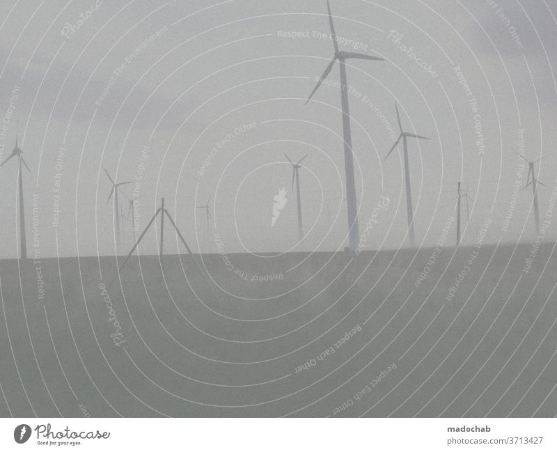 green electricity stream Pinwheel wind power ecologic Energy industry Wind energy plant Renewable energy Environmental protection Technology Eco-friendly Clean