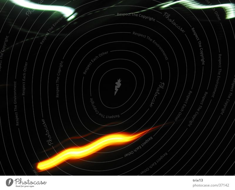 lightgames_3 Light White Black Night Stripe Waves Photographic technology Orange Blur Blaze