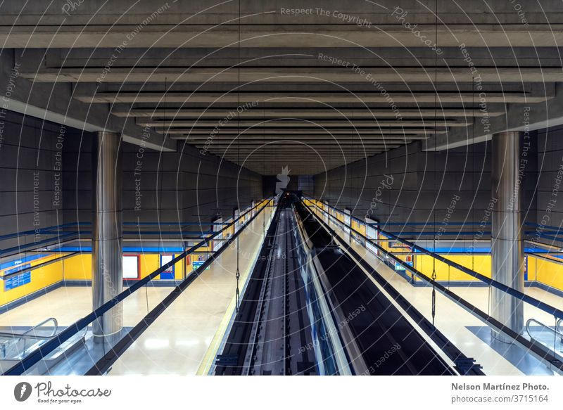 Perspective of an empty train station. Lines and shapes. Abstract background. transportation subway railroad speed move construction perspective commuter