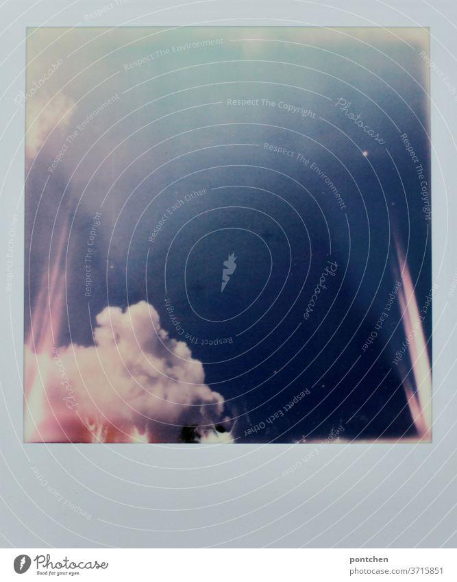 600- blast. Clouds and light appearances on a Polaroid Explosion Sky Light Light (Natural Phenomenon) Blue Summer Pink Illuminate