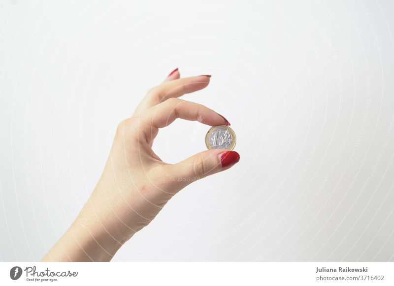 1 Euro coin Money Coin Financial Industry Things Luxury Save Loose change Financial institution Income Economy Paying Business Shopping investment Success