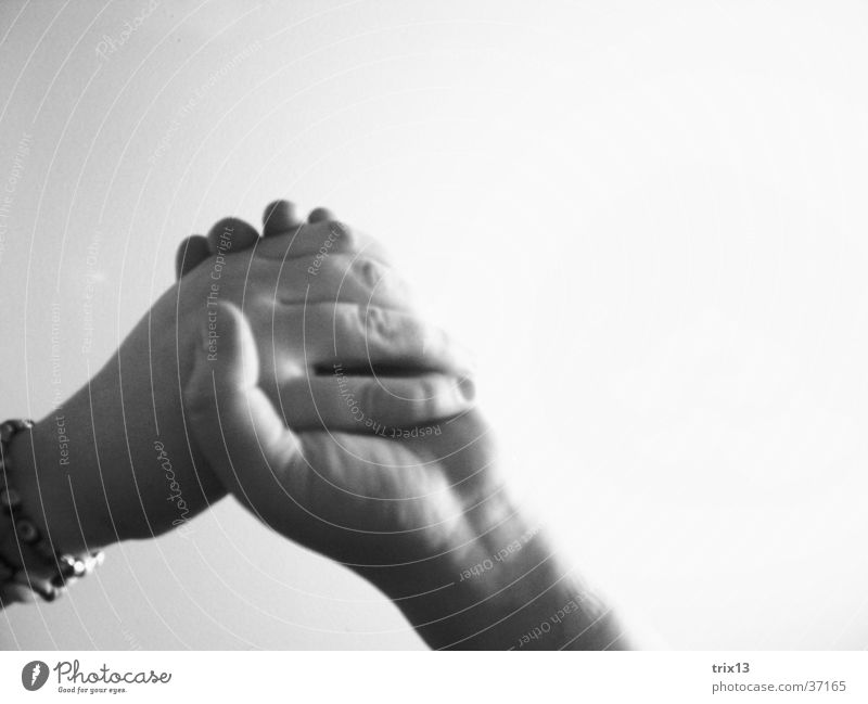 hand in hand Black White Hand Together Friendship Fingers Hold Attachment Human being Love Arm Power