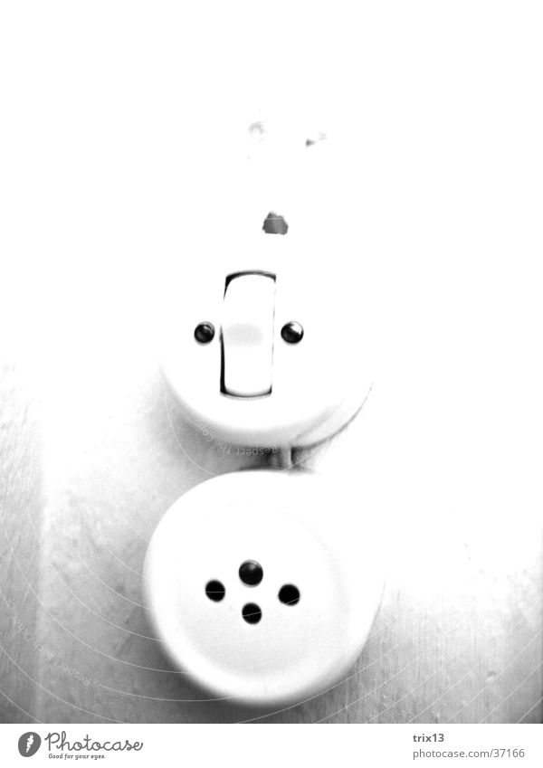 White Black Round Living or residing Hollow Tin Screw Switch Socket Light switch